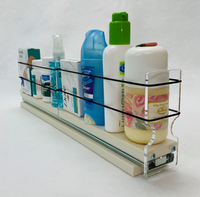 """Spice Rack 2x1x18, Cream Unit: 2.3"""" wide x 5.0"""" tall x 18"""" depth Drawers: (1) 2.1"""" wide x 2 Sections 8.66"""" Long"""
