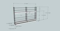 2x2x18 Spice Rack - Dimensioned