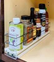 Spice Rack 3 x 1 x 18, Cream - Access full cabinet