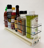 """Spice Rack 3 x 1 x 18, Cream Unit: 3.45"""" wide x 5.0"""" tall x 18"""" depth Drawers: (1) 3.25"""" wide x 5"""" Tall with two 8.66"""" Sections"""