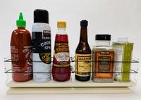 Spice Rack 3 x 1 x 18, Cream - Side View