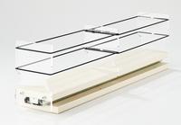 3x1x18 Spice Rack Drawer Cream - Full Extension Ball-Bearing Slides