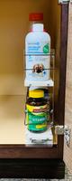 Spice Rack 3 x 2 x 18, Cream - In the Cabinet