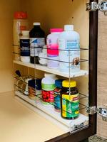 Spice Rack 3 x 2 x 18, Cream - Full Use of Entire Cabinet Depth