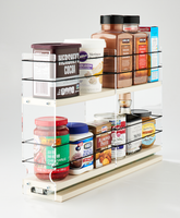 3x2x18 Spice Rack Cream - Organize and Access a Variety of Containers in a Variety of Locations