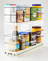 """4 x 2 x 18 Storage Solution Drawer Cream Unit: 4.6"""" wide x 15.25"""" tall x 18"""" depth Drawers: (1) 4.4"""" wide x 2 Tiers, each tier two 8.66"""" sections"""