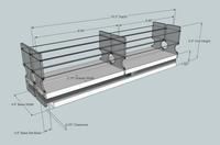 22x1x18 Spice Rack - Dimensioned