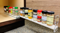 22x1x18 Spice Rack - Two independent drawers to organize 16 Spice Jars