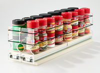 22x1x18 Spice Rack Drawers Cream - Store Your Mix of Spice Jars