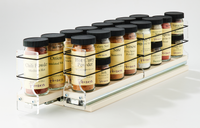 22x1x18 Spice Rack Drawers Cream - 2 Independent Drawers, Access the Full Depth of Your Cabinet