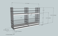 22x2x18 Spice Rack - Dimensioned