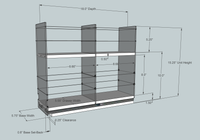 5x2x18 Large Storage Drawer - Dimensioned