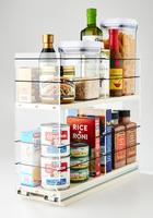 5x2x18 Storage Solution Drawer Cream - 2 Tiers of Full Cabinet Depth Storage