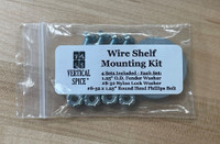 Wire Shelf Mounting Kit