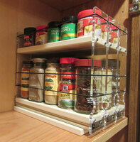 Spice Rack 222x1.5x11 Cream - Compact Cabinet Storage