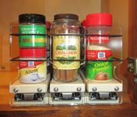 Spice Rack 222x1x11, Cream - Compact Spice Storage