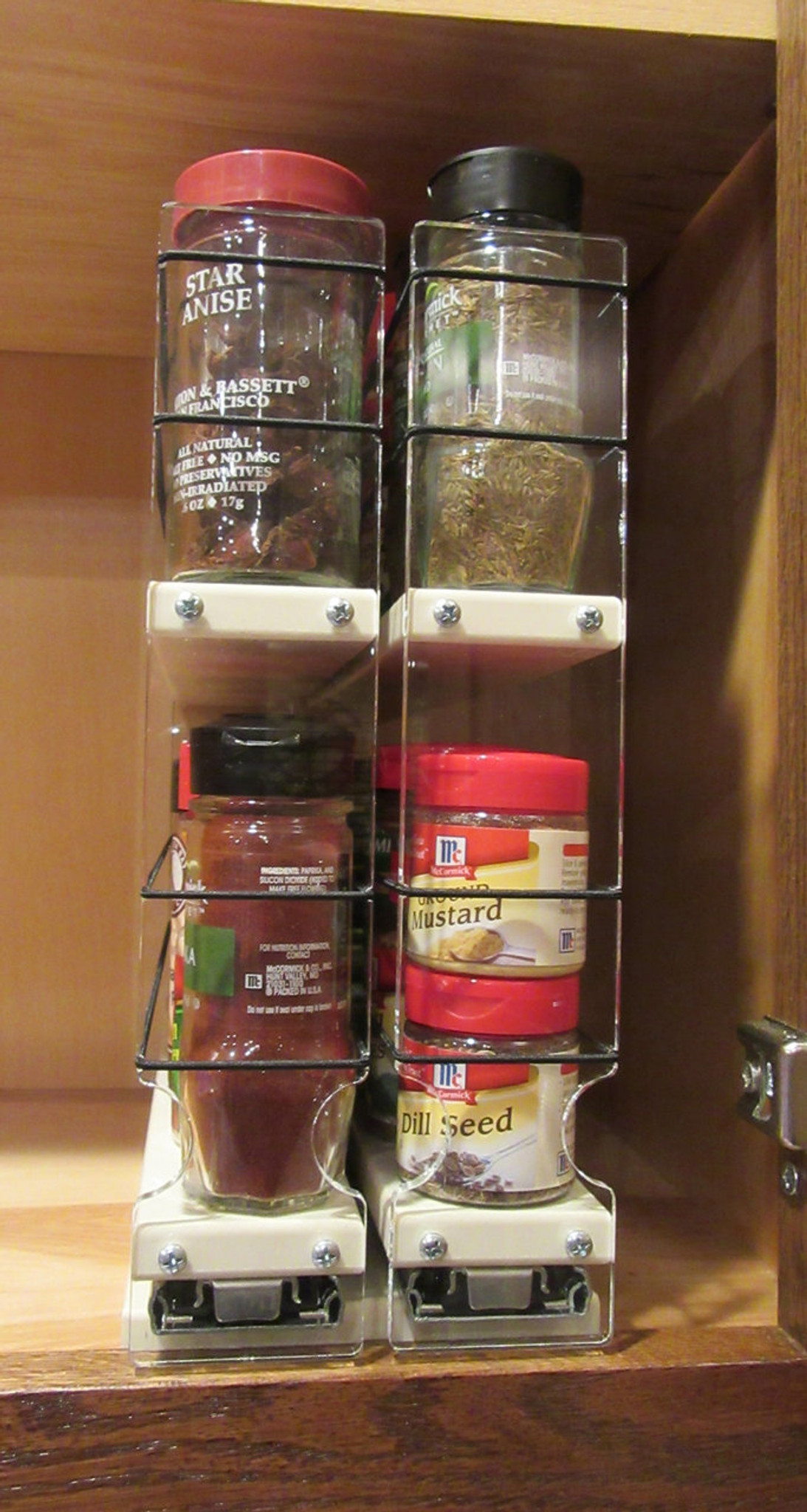 22x2x11 Maple Spice Rack Drawer For Kitchen Cabinet