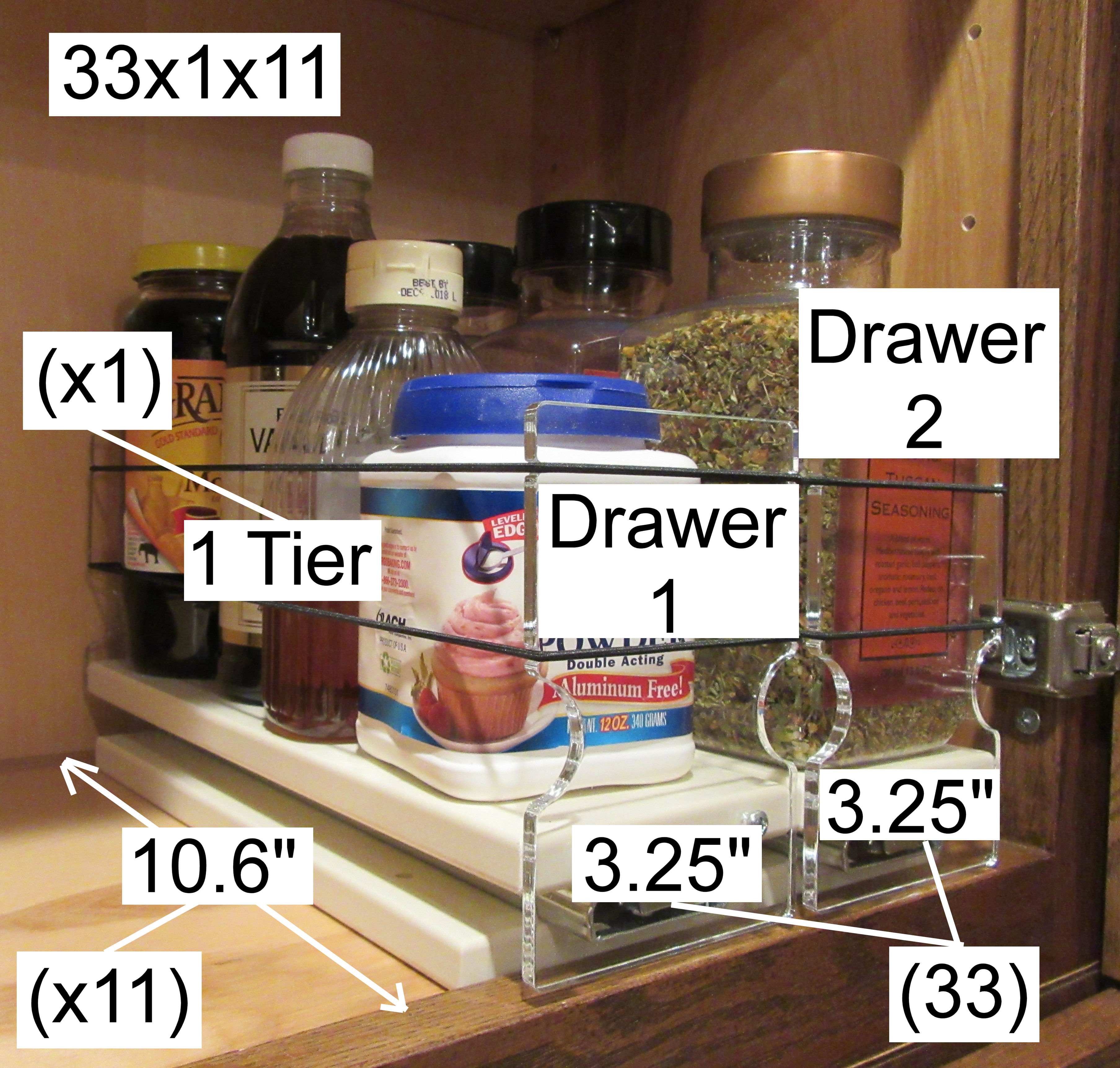 How the 33x1x11 Spice Rack is named