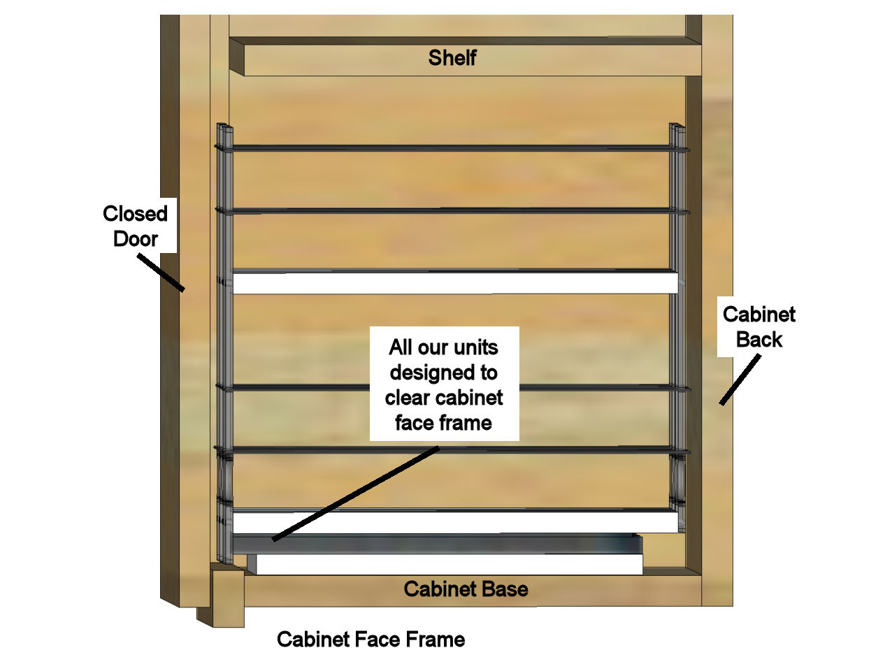Cabinet Spice Rack Fit
