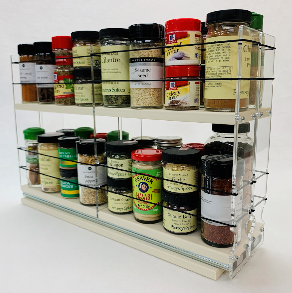 22x2x18 Spice Rack - Holds 32 Spices