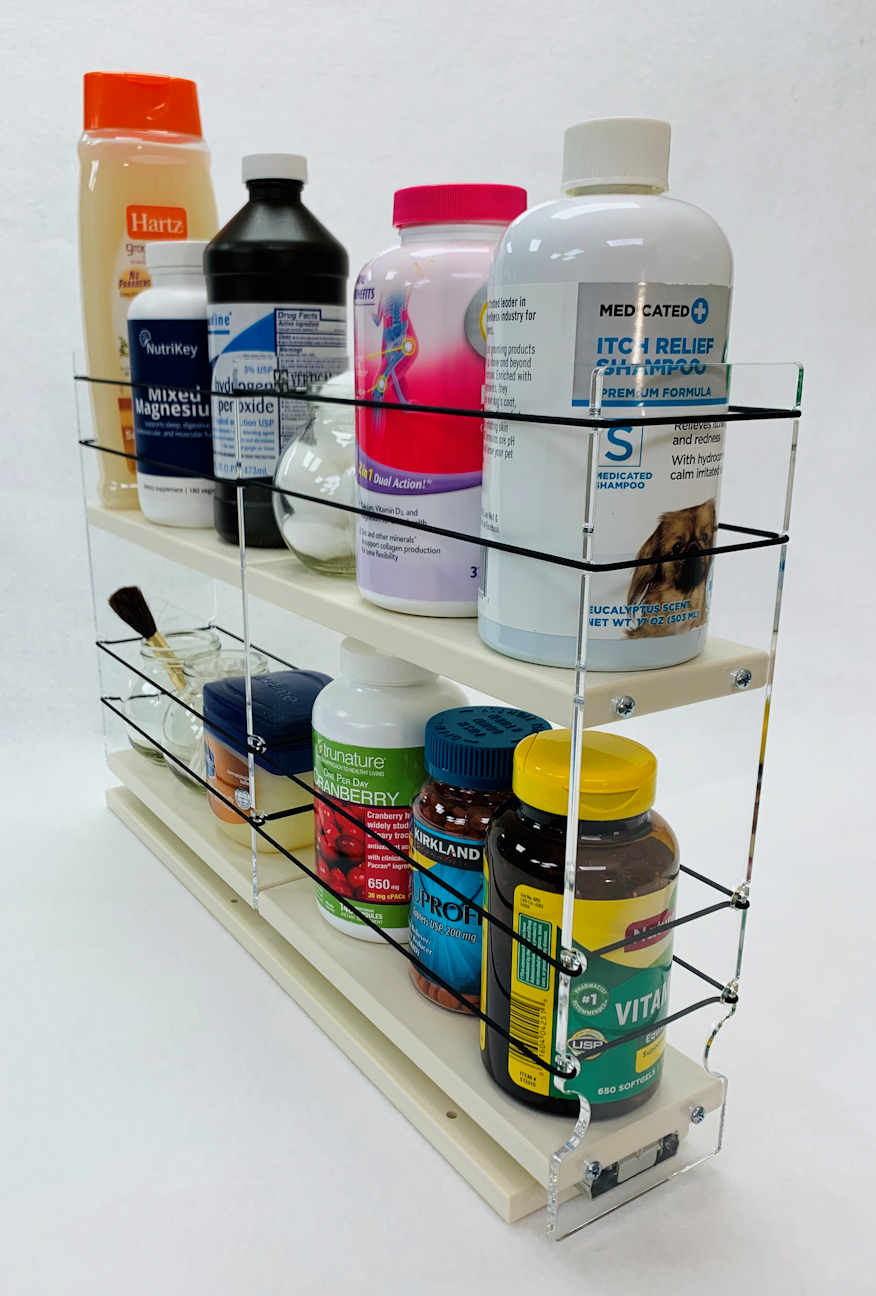 Two Tiers to Organize Larger Containers