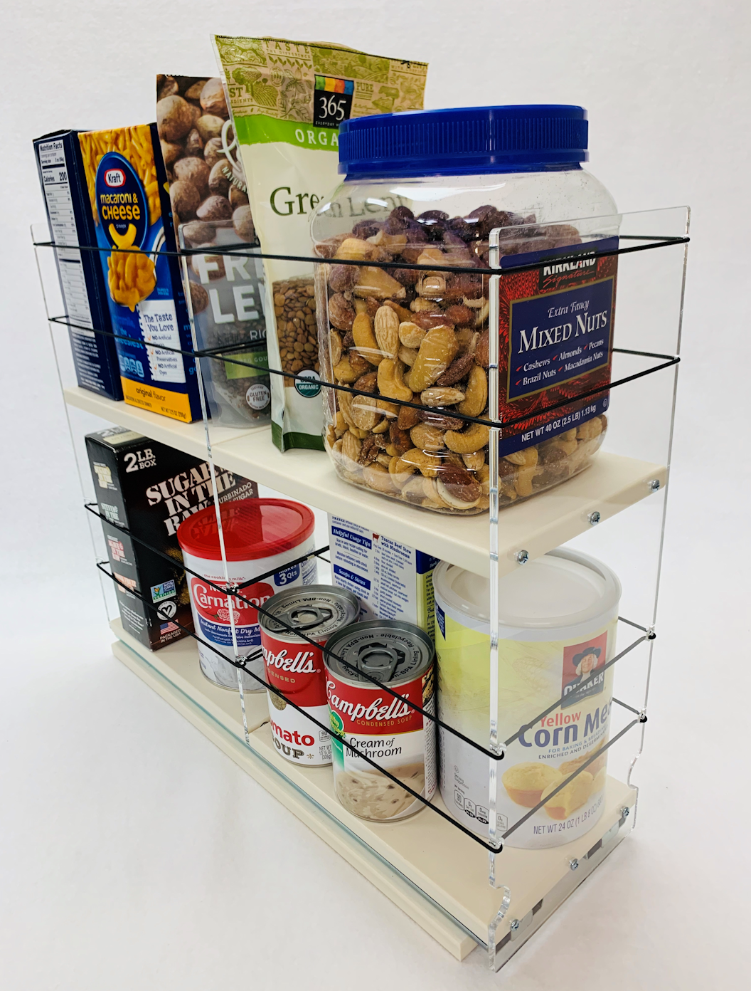 Two Tiers Tall Large Container Organizer