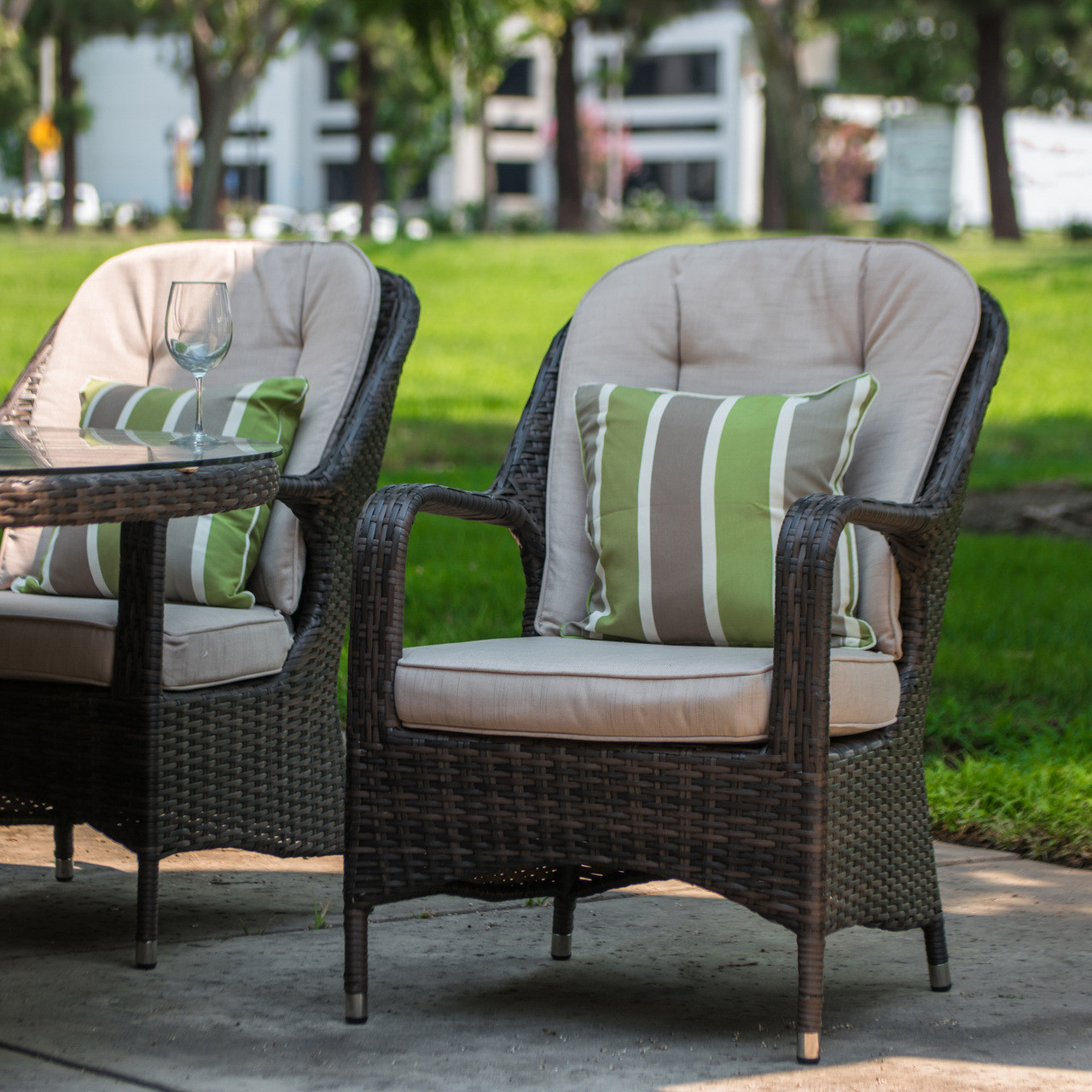 Awesome Direct Wicker Liberatore Lounge Chair With Cushions 8 Pcs Pabps2019 Chair Design Images Pabps2019Com