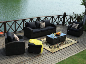 Direct Wicker Tiana 5pc Patio Garden Furniture Sofa Set Sectional without the table