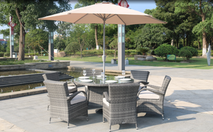 Direct Wicker Aaliyah 7 Piece Brown Wicker Patio Dining Set