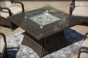 Outdoor 4 seat fire pit table