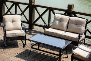 Outdoor Living Iron Patio Set (4-piece)