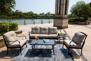 5-piece Outdoor Living Iron Patio Set