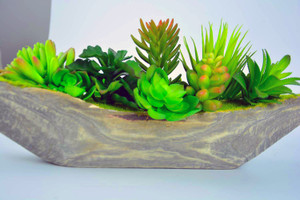 Mini Potted Plastic Fake Green Plant for Home Decor