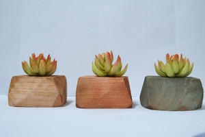 3 Pieces Faux House Plants Succulents Artificial