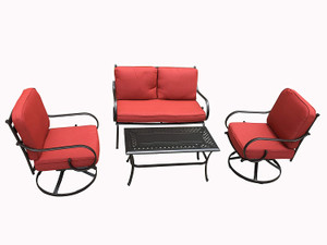 Direct Wicker 6-Piece Outdoor Patio Sofa Set with Arms and Seat Cushions