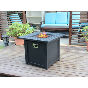Austin 30'' Slat Top Gas Fire Pit Table
