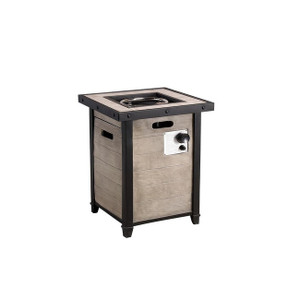 Sunshine Outdoor Wood Grain Material Square Gas Fire Pit Table