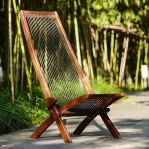 128folding roping wood chair