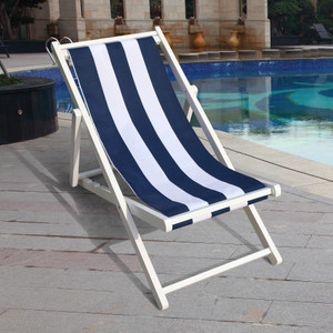 populus wood sling chair blue Stripe Broad blue Stripe