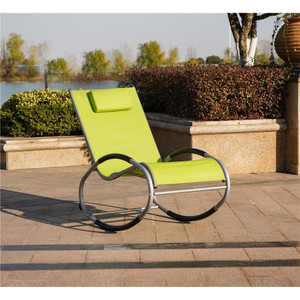 Iron Rocking Oval Lounge Chair