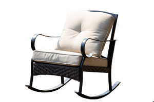 Outdoor Freestyle Iron Rocking Chairs Set