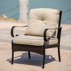 2-piece Indoor or Outdoor Patio Furniture Single Chair
