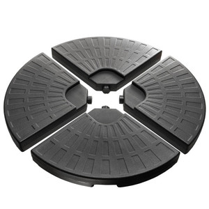 Plastic Free Standing Umbrella Base Set,4 piece Black Umbrella Circular Base suit,UV Stability ,Easy Water or Sand Filled Base With Convenient Carry Handle