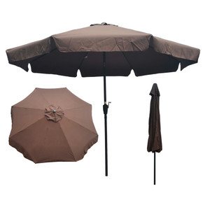 10ft Patio Umbrella Market Table Round Umbrella Outdoor Garden Umbrellas with Crank and Push Button Tilt for Pool Shade Outside