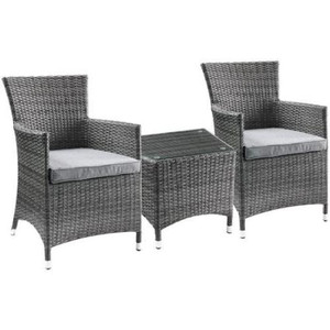 Outdoor Patio Furniture Set, 5-Piece Wicker Rattan Sectional Sofa Set, Brown and Gray