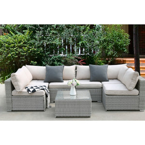 Free Combination 7PCS Outdoor Patio Rattan Set