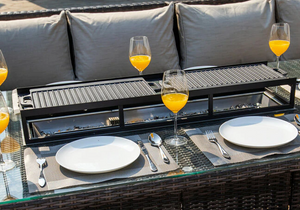 Two BBQ Plates  For Gas Fire Rectangle Table