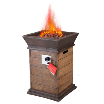 Outdoor 19.69'' L. x 19.69'' W. x 29.13 H. Gas Fire Pit