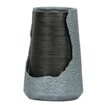 Gray Polyresin Outdoor Urn Fountain