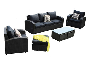 Direct Wicker Tiana 5pc Patio Garden Furniture Sectional  Sofa (Single Items Included)